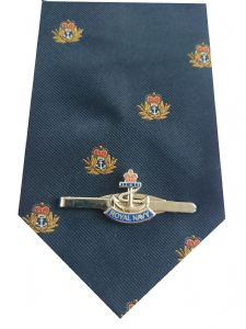 Royal Navy Tie & Tie Clip Set p305 v6